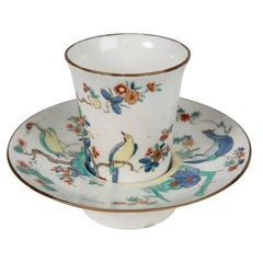 French Trembleuse Cup and Saucer in Kakiemon Style