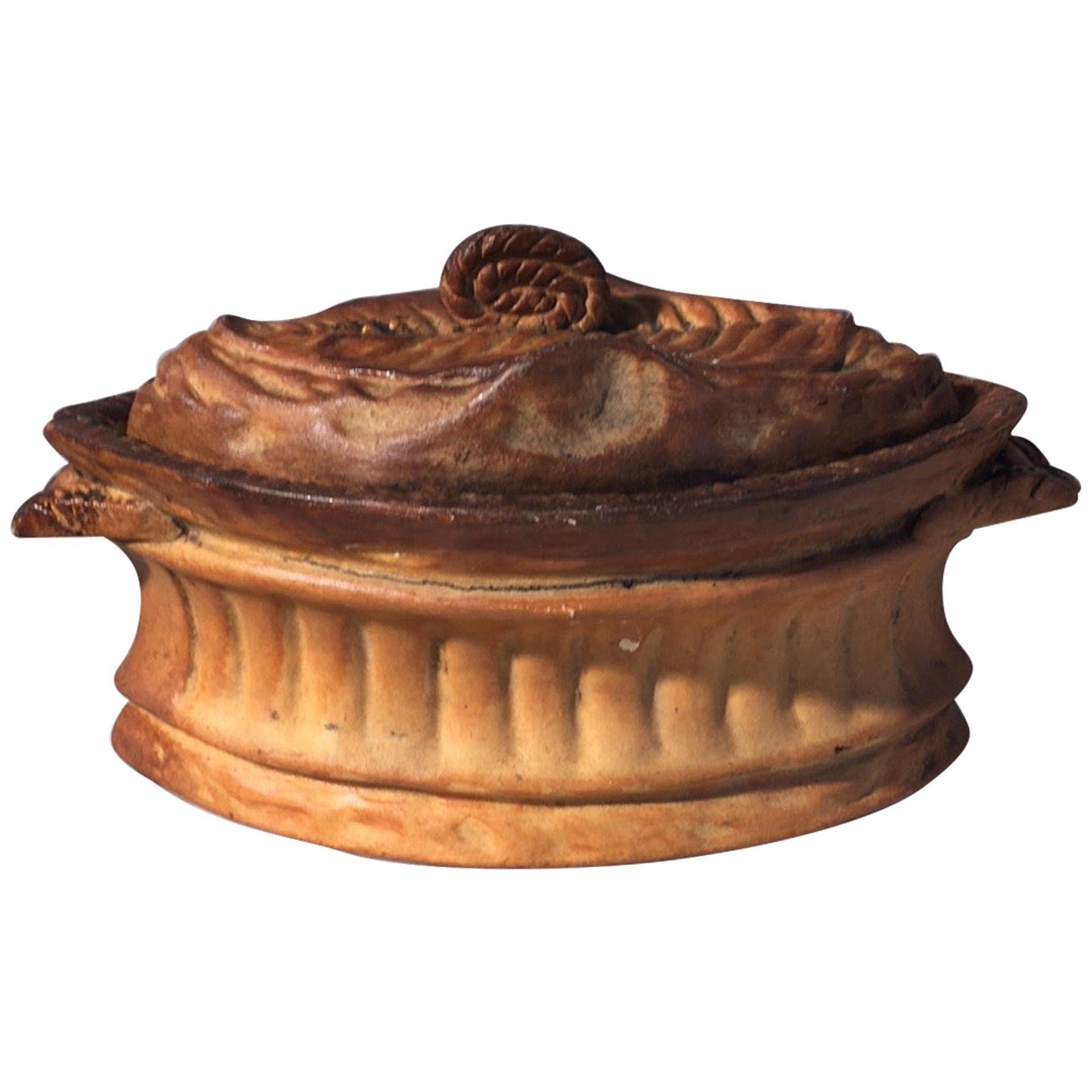 French Trompe L'oeil Porcelain Pâté Tureen Pillivuyt Mehun
