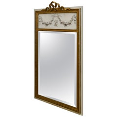 French Trumeau Style Console Mirror