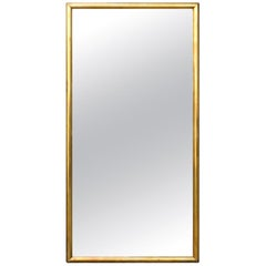 French Turn of the Century 1900s Giltwood Rectangular Mirror with Rounded Edges