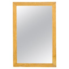 French Turn of the Century Gilt Mirror with Reeded Frame, circa 1900