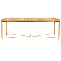 French Turn of the Century Neoclassical St. Ormolu and Mirror Coffee Table