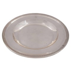 French Turn-of-the-Century Neoclassical Style Sterling Silver Oval Platter