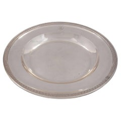 French Turn of the Century Neoclassical Style Sterling Silver Round Platter