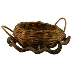 French Twisted Branches and Twigs Garden Planter/Centerpiece/Folk Art Basket