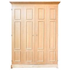 French Two-Door Oak Locker with Multi-Door Interior