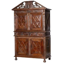 French two-section Cabinet 18th Century