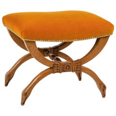 French Upholstered Stool