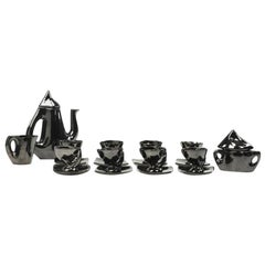 French Vallauris Modernist Ceramic Coffee Tea Service Set