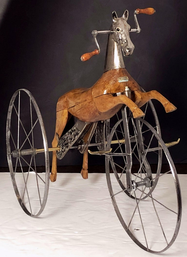 French Velocipede Or Child S Horse Tricycle For Sale At