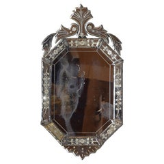 French Venetian Inspired Octagonal Mirror from the 2nd Half of the 19th Century