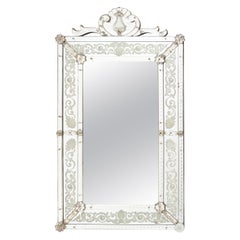 French Venetian Style Crested Mirror, circa 1930