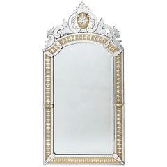 French Venetian Style Mirror with Gilt Ground Border, circa 1880