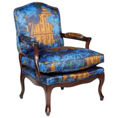 French Venice Fauteuil Louis XV Armchair, 20th Century
