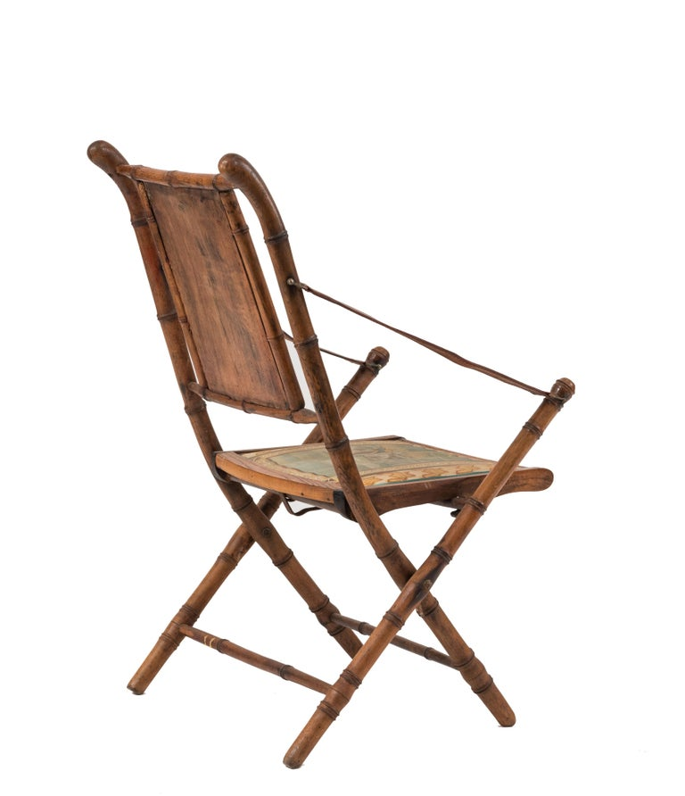 French Victorian Bamboo Armchair In Good Condition For Sale In New York, NY