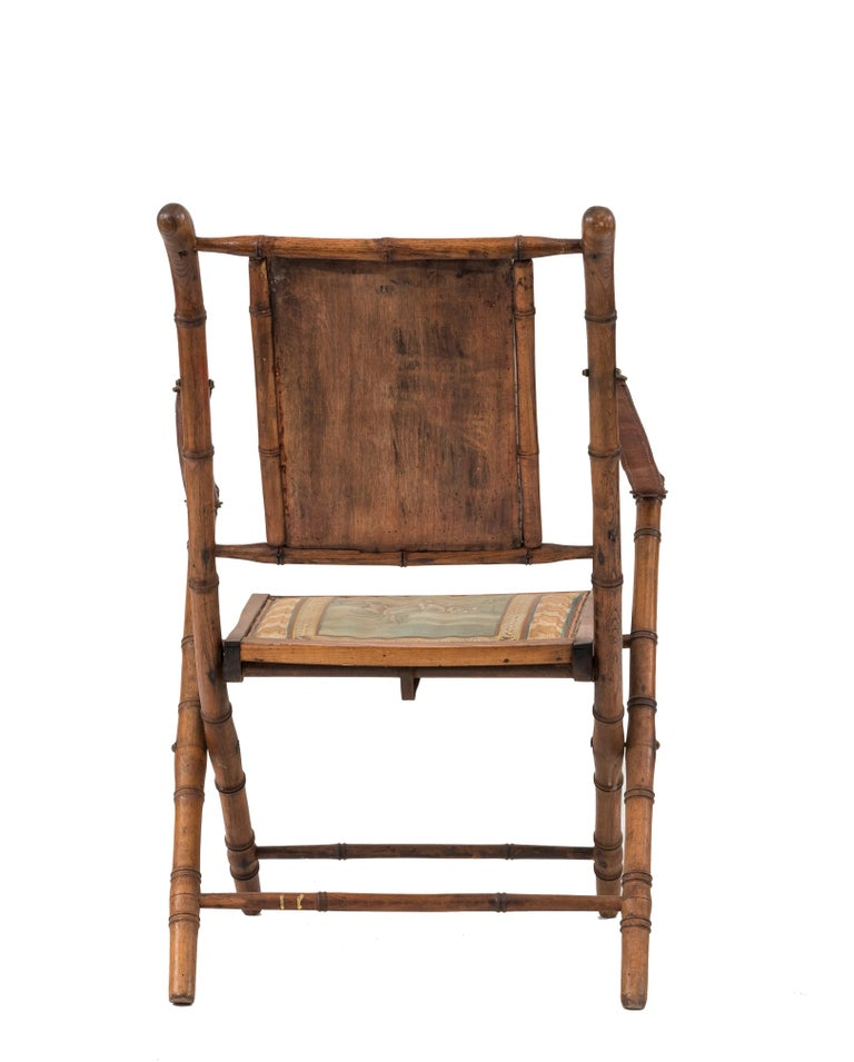 19th Century French Victorian Bamboo Armchair For Sale
