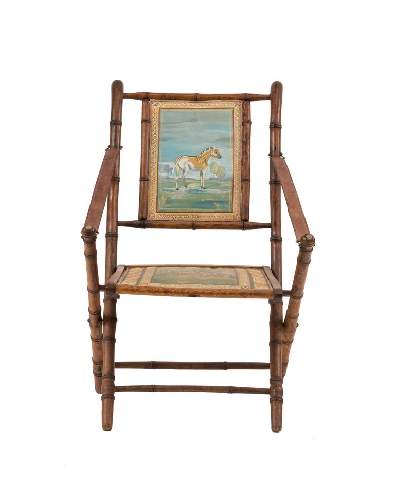 French Victorian Bamboo Armchair For Sale 2