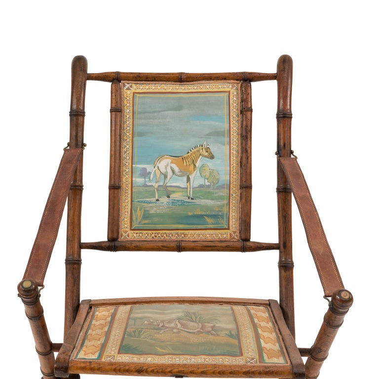 French Victorian Bamboo Armchair For Sale 3