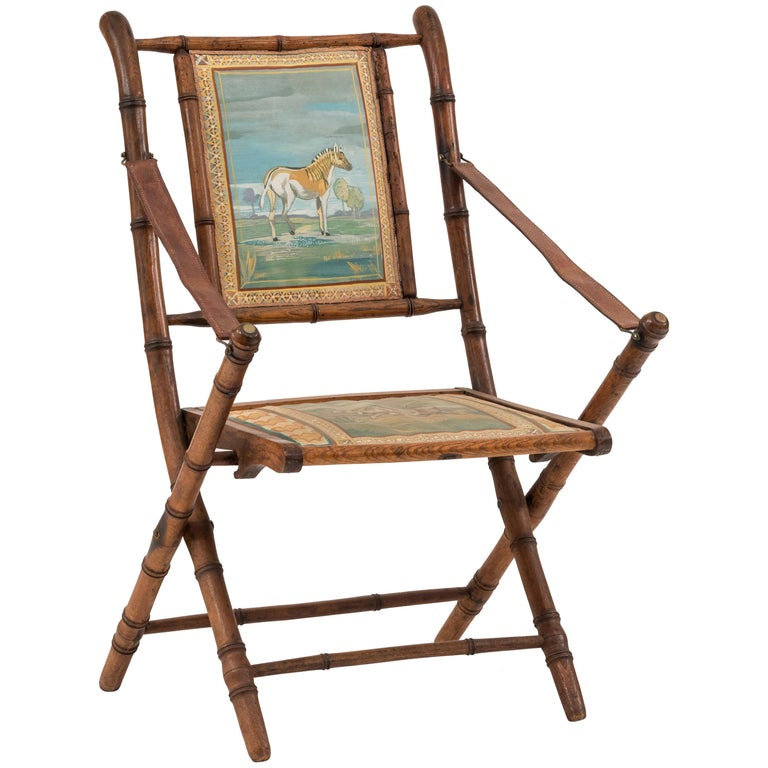 French Victorian Bamboo Armchair For Sale