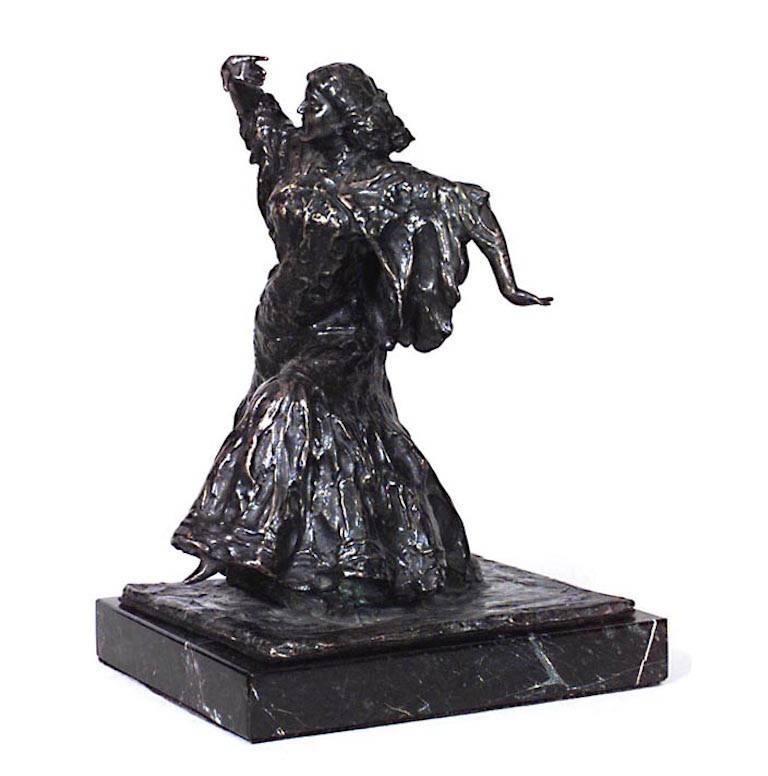 French Victorian Bronze Figure of Woman 'Signed Rundigion Moraus'