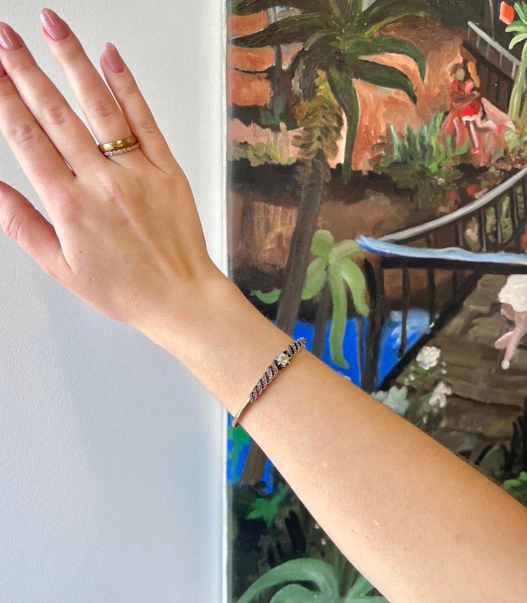 Are you an antique jewelry collector or just an appreciator of beautiful and rare treasures? Either way, this French Victorian Diamond 18k Gold Bracelet would be an amazing addition to your jewelry collection. The main stone is an Old Mine Cut