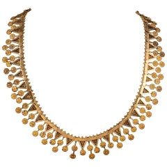 French Victorian Golden Collar