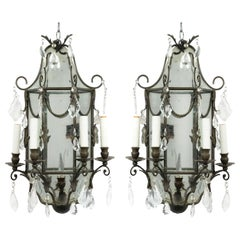 French Victorian Iron Wall Sconces