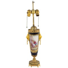 French Victorian Sèvres Porcelain Table Lamp