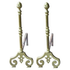 French Victorian Style Andirons or Firedogs