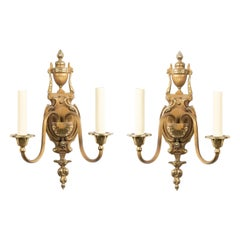French Victorian Style Bronze and Copper Wall Sconces