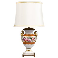 French Vieux Paris Ceramic Table Lamp, Early 1900s
