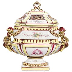 French Vieux Paris Ceramic Urn, Early 1900s