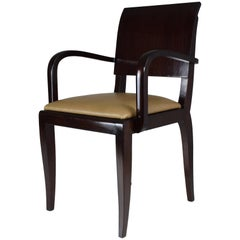 French Vintage Art Deco Chair, 1940s