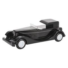 French Vintage Black Vilac Coupe Chauffeur H6C 1930 Wooden Model Car