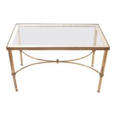 French Vintage Brass Cocktail Table