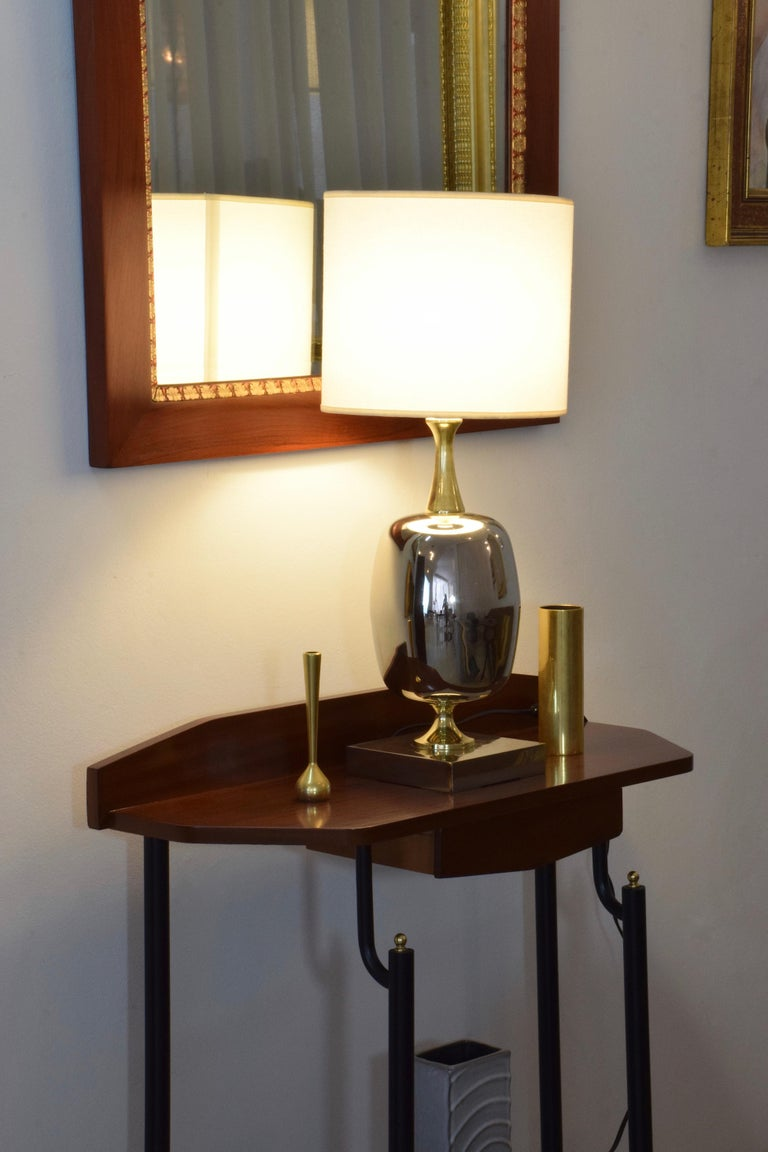 French Vintage Brass Table Lamp, 1970s  For Sale 6