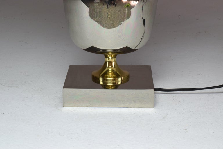 French Vintage Brass Table Lamp, 1970s  For Sale 7