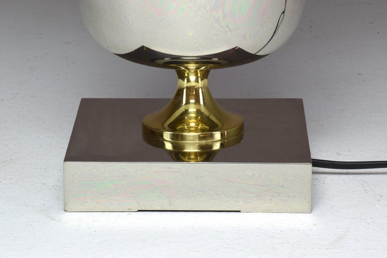 French Vintage Brass Table Lamp, 1970s  For Sale 8