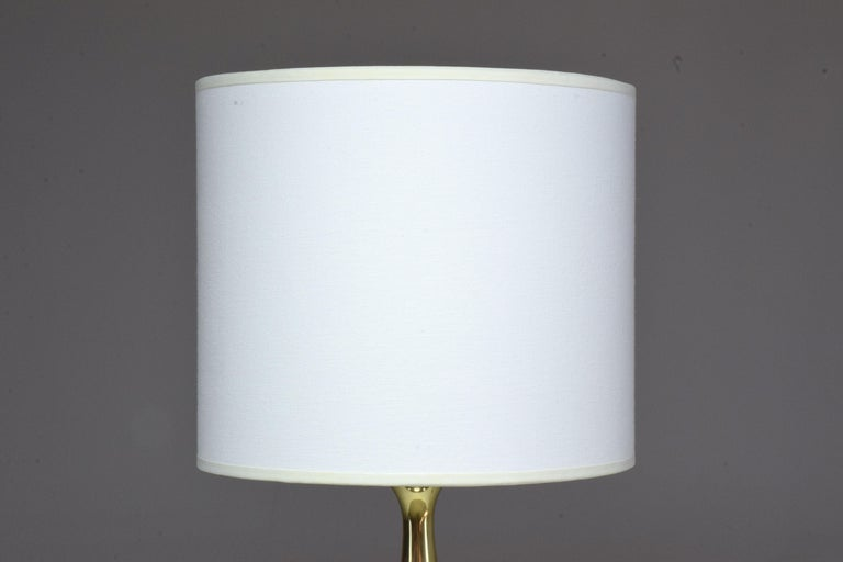 French Vintage Brass Table Lamp, 1970s  For Sale 11