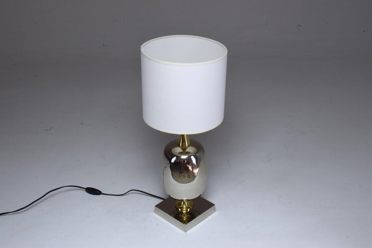 French Vintage Brass Table Lamp, 1970s  For Sale 12