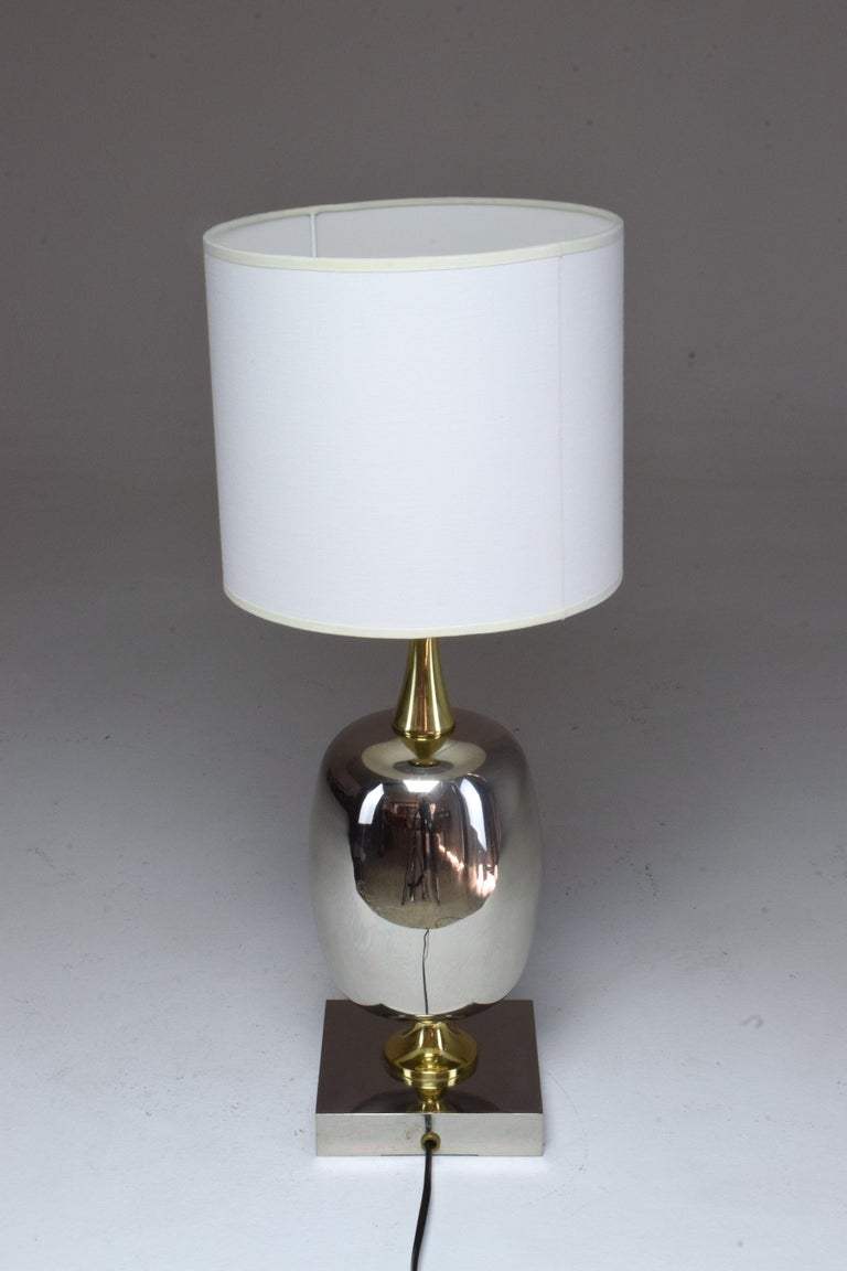 French Vintage Brass Table Lamp, 1970s  For Sale 13
