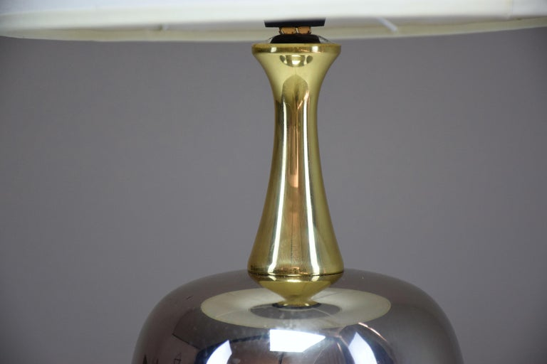 French Vintage Brass Table Lamp, 1970s  For Sale 15