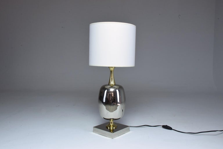 Late 20th Century French Vintage Brass Table Lamp, 1970s  For Sale