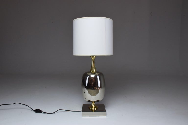 French Vintage Brass Table Lamp, 1970s  For Sale 1