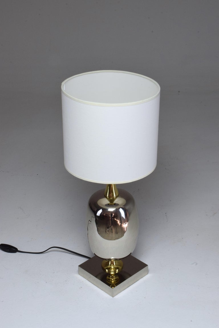 French Vintage Brass Table Lamp, 1970s  For Sale 3