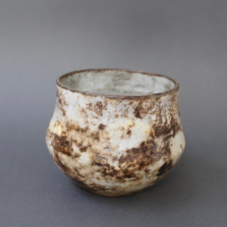 French Vintage Ceramic Cachepot by Alexandre Kostanda 'circa 1960s' In Good Condition For Sale In London, GB