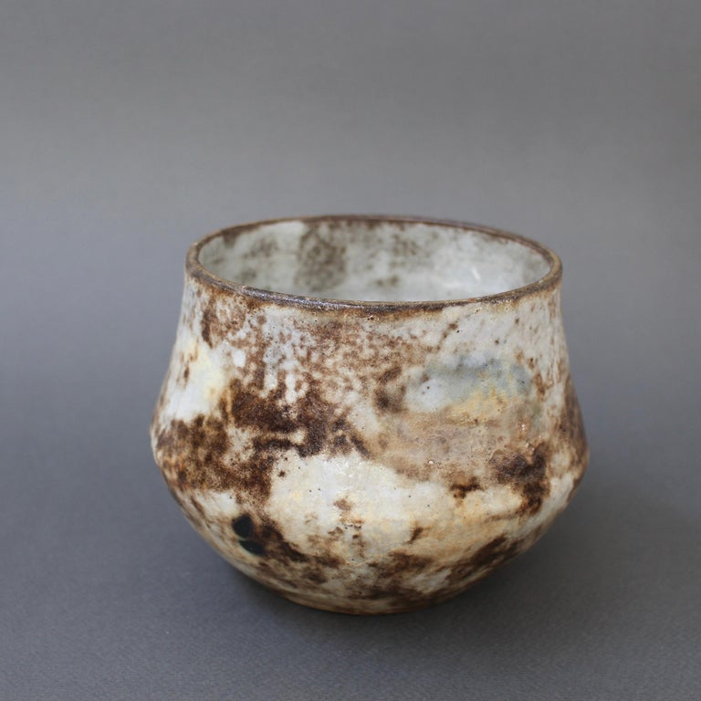 Mid-20th Century French Vintage Ceramic Cachepot by Alexandre Kostanda 'circa 1960s' For Sale