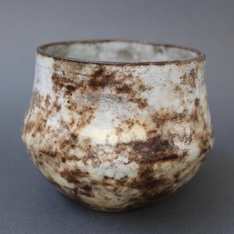 French Vintage Ceramic Cachepot by Alexandre Kostanda 'circa 1960s' For Sale 3