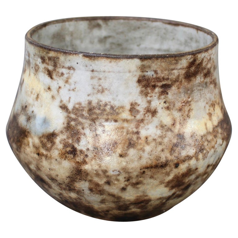 French Vintage Ceramic Cachepot by Alexandre Kostanda 'circa 1960s' For Sale