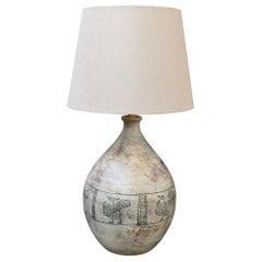French Vintage Ceramic Table Lamp by Jacques Blin 'circa 1950s'